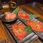 大徳壽 - タン・上カルビ 上ハラミ・シンシン 全て美味しい。タン一枚食べてしまいました。