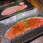大徳壽 - イチボ・薄焼きロース。美味しい