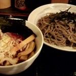 13237036 - 激辛特製つけ蕎麦(大大盛+100円)1300円