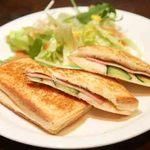 伴茶夢 - 「焼きサンド」ハム&きゅうり、トマト&チーズのホットサンド