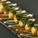 Bar CHASSY - 刺身帆立のバター醤油炙り