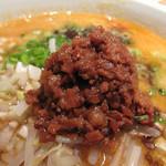 AKAMARU食堂 - 味噌味の濃い肉味噌がこんもり♪