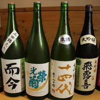 特選ワインや限定の日本酒も。料理を一層美味しくするお酒が充実