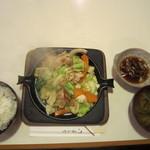 キッチンすもり - 豚肉野菜鉄板焼き(ポン酢味)\730