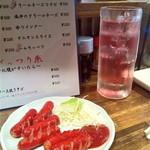 下赤塚ダイナマイト酒場 - 赤ウィンナ・200円