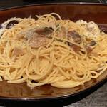 132391923 - 黒トリュフとポルチーニ茸の芳潤スパゲッティ