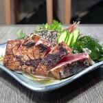 炭火焼 みや澤 - 鰹のわら焼きタタキ(ポン酢)