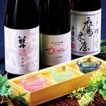 五十六屋 - ドリンク写真:【日本酒をとことん楽しむ!日本酒飲み比べ】豊後銘酒3種飲み比べ