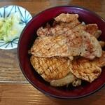 炭焼豚丼 空海 - 空海セット 1,200円 の ロース豚丼 2020/06