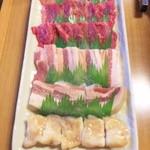焼肉さかえ亭 - おすすめ6点盛り2000円!