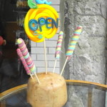 パパブブレ - 飴のOPEN標識