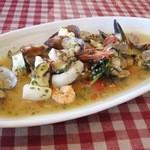 13241596 - 地魚のオーブン焼き、魚介ソース
