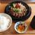つきはし - 料理写真:特選黒毛和牛サーロインステーキ膳 1,800円