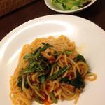 モカロ - ベーコンとほうれん草のトマトソースパスタ(ランチセット)
