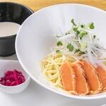 高倉町珈琲 - 炙りサーモンの冷製パスタつけ麺風夏のおすすめメニュー