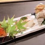 歳時鹿火 - 前菜3種盛り