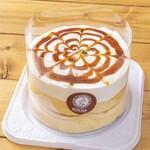 高倉町珈琲 - 冷製特製クリームリコッタパンケーキ