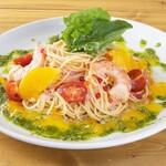 高倉町珈琲 - 色とりどりトマトの冷製パスタ