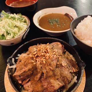 ランチ!ハラミステーキ定食!!