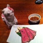 Dainingurumusushi - 箱根山麓牛。プラス料金かかります。
