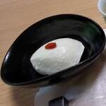 松籟庵 - 先付(できたてのお豆腐)