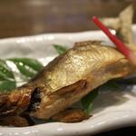 小川の魚 - 若鮎の塩焼き