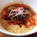 柘  - 料理写真:混ぜるのがもったいなくて、麺リフトせずにごめんなさい。