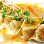 ◆ピリ辛ごまダレ焼餃子