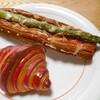 リシェ  - 料理写真:バイカラークロワッサン & アスパラガスのデニッシュ