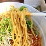 焼きとん 大国 - 王子の坦々麺(辛3・痺3)麺アップ