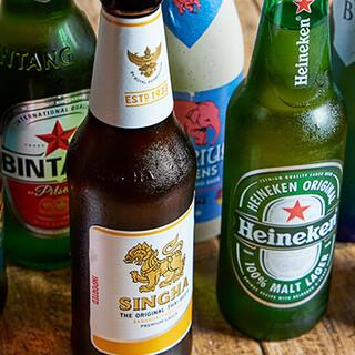 世界の瓶ビールは12種類!恵比寿にいながら海外旅行気分に♪