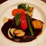 ochanomizuogawaken - グリル野菜添えハンバーグステーキ