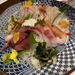 プライベート個室×旬菜居酒屋 魚々ろ - 刺身の盛り合わせ、この写真は3人前です