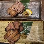プライベート個室×旬菜居酒屋 魚々ろ - 塩牛タン焼と味噌牛タン焼です