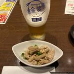 プライベート個室×旬菜居酒屋 魚々ろ - お通しは茹でたモツでした