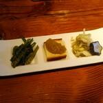 山梨レストラン メリメロ - 前菜3種