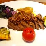 山梨レストラン メリメロ - 甲州ワインビーフのランプステーキ