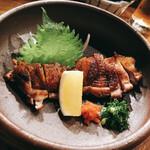 132477507 - 黒さつま鶏 胸塩焼き♬ 香ばしい^^