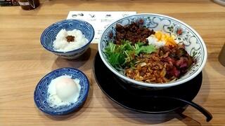 担担麺専門店 DAN DAN NOODLES. ENISHI - 担担麺と温玉セット 税込1000円