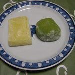 喜久月 - ゆず餅 と あを梅 @126円