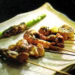 福家 - 料理写真:串焼き盛り(500円)