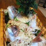 料理・仕出し 前川 - 鯛のおつくり&焼きもの