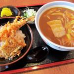 助八そば 館山店 - 料理写真:カレー南蛮セット 1100円