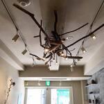 Organic Cafe ゆきすきのくに - 自然の流木を利用したアート・シャンデリア。