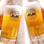 日本橋茅場町 寿司 鮮極 - 生ビールはアサヒビールをご用意しております。
