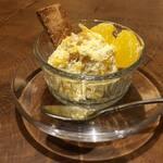 Organic Cafe ゆきすきのくに - 夏蜜柑とクリームチーズのデザート。