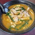 紅蘭 - 辛みそダローメン800円(税込) ニンニク効いたパンチとコクのある味噌スープ、卵とニラの相性も抜群です( ≧∀≦)