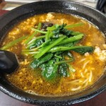 紅蘭 - ジャジャーラーメン750円(税込) スッキリピリ辛醤油スープで相変わらずの旨さ( *´艸)♪