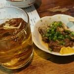 大衆酒場 よっちゃん - コーヒー焼酎と豚ナンコツ