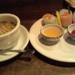 13251256 - レディースセットのスープと生春巻き